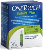 Тест полоски Ван Тач Селект Плюс (One Touch Select Plus) 50 шт
