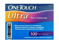 Тест-полоски ВанТач Ультра (One Touch Ultra)100 штук